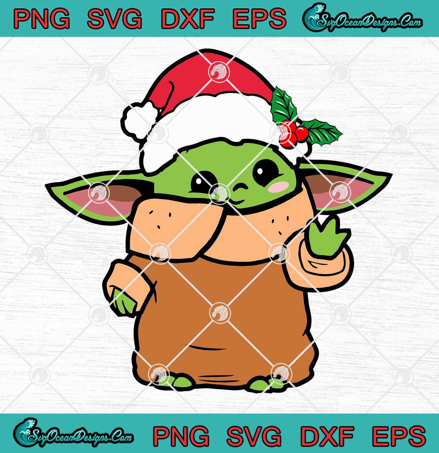 Baby Yoda Christmas Star Wars The Mandalorian Svg Png Eps Dxf The Child Christmas The Mandalorian Svg Png Designs Digital Download