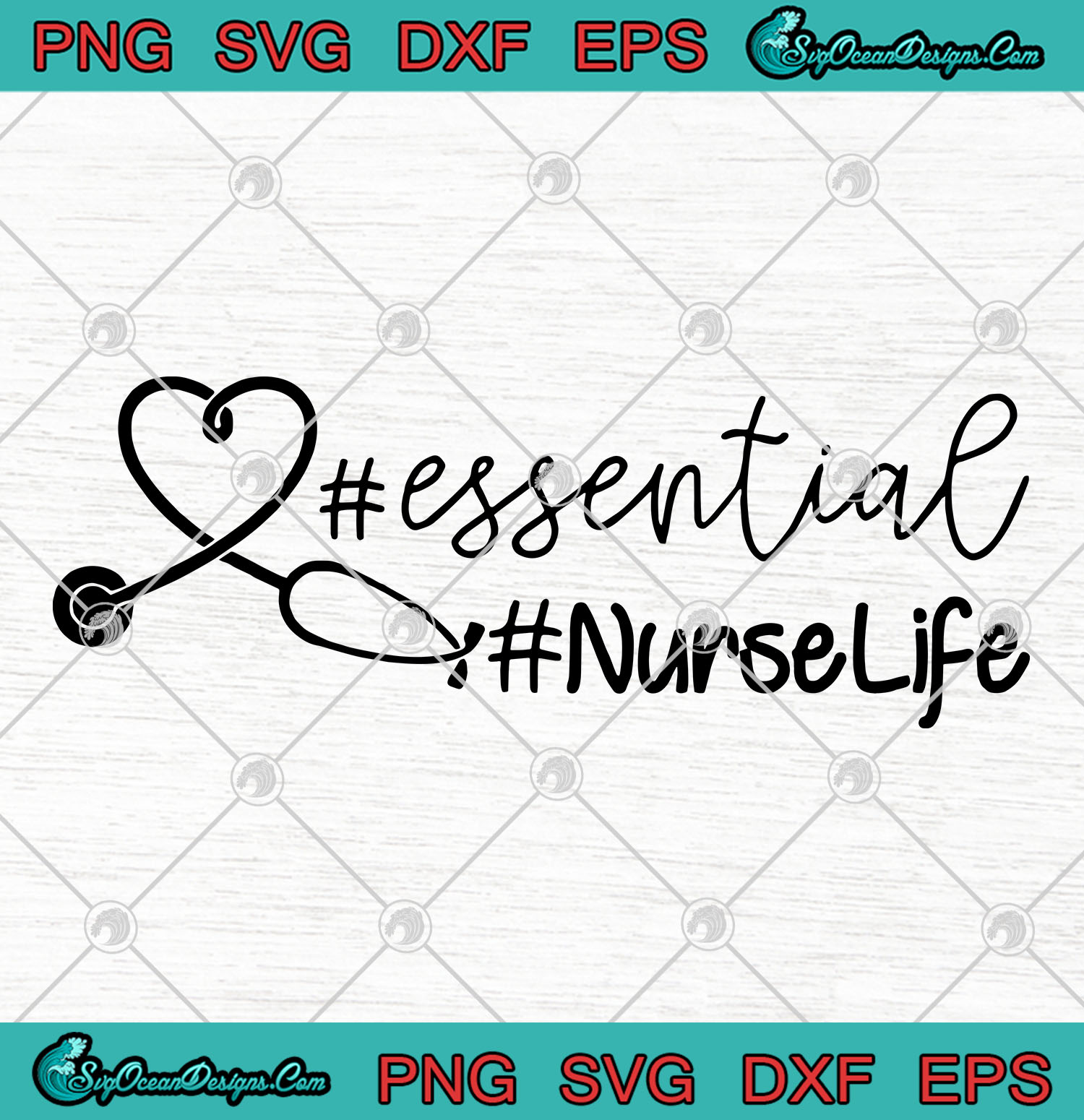 Love Essential Nurse Life Svg Png Eps Dxf Strong Nurse Svg Cutting File Cricut Silhouette Art Designs Digital Download