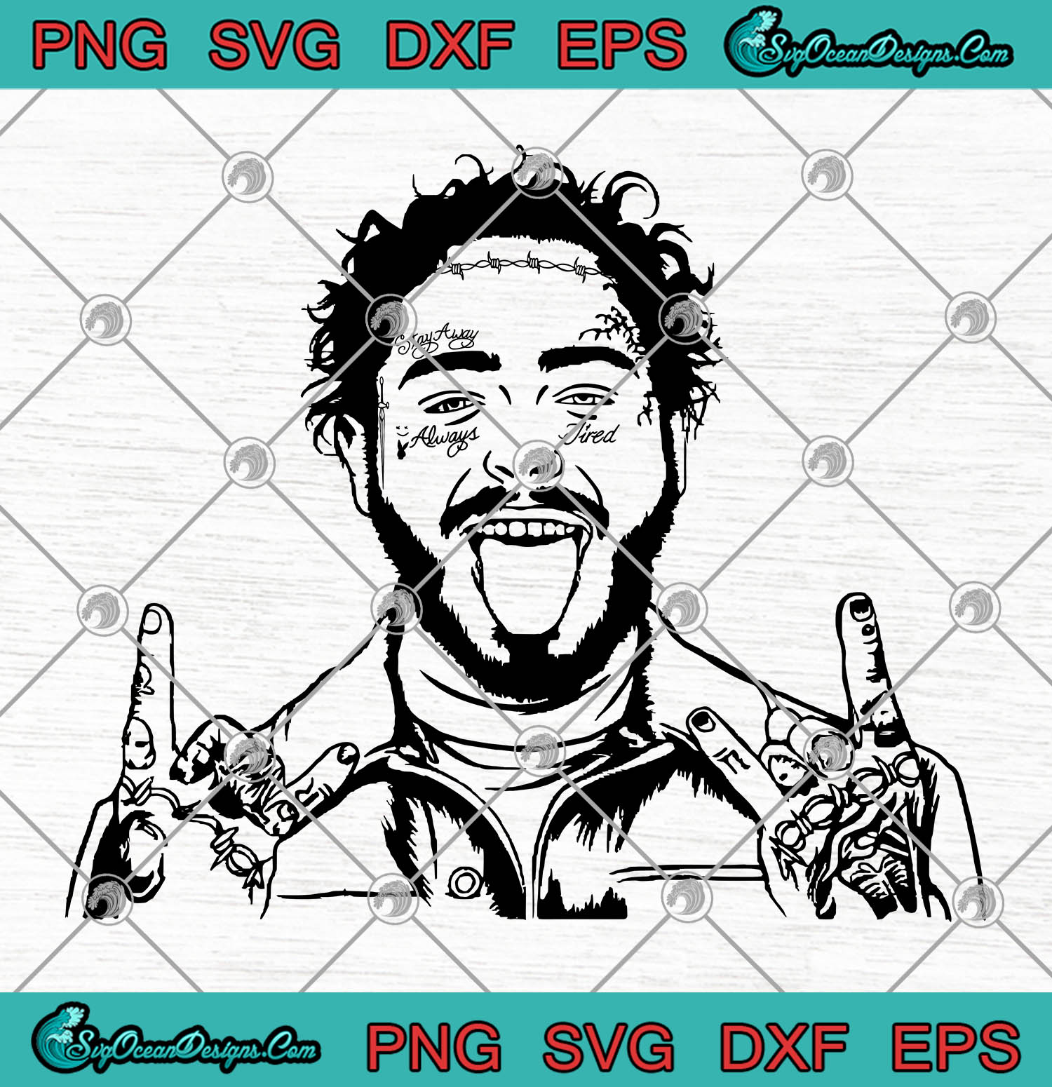Post Malone Fant Vector Svg Png Eps Dxf Posty For President Post Malone Cutting File Cricut Silhouette Art Designs Digital Download