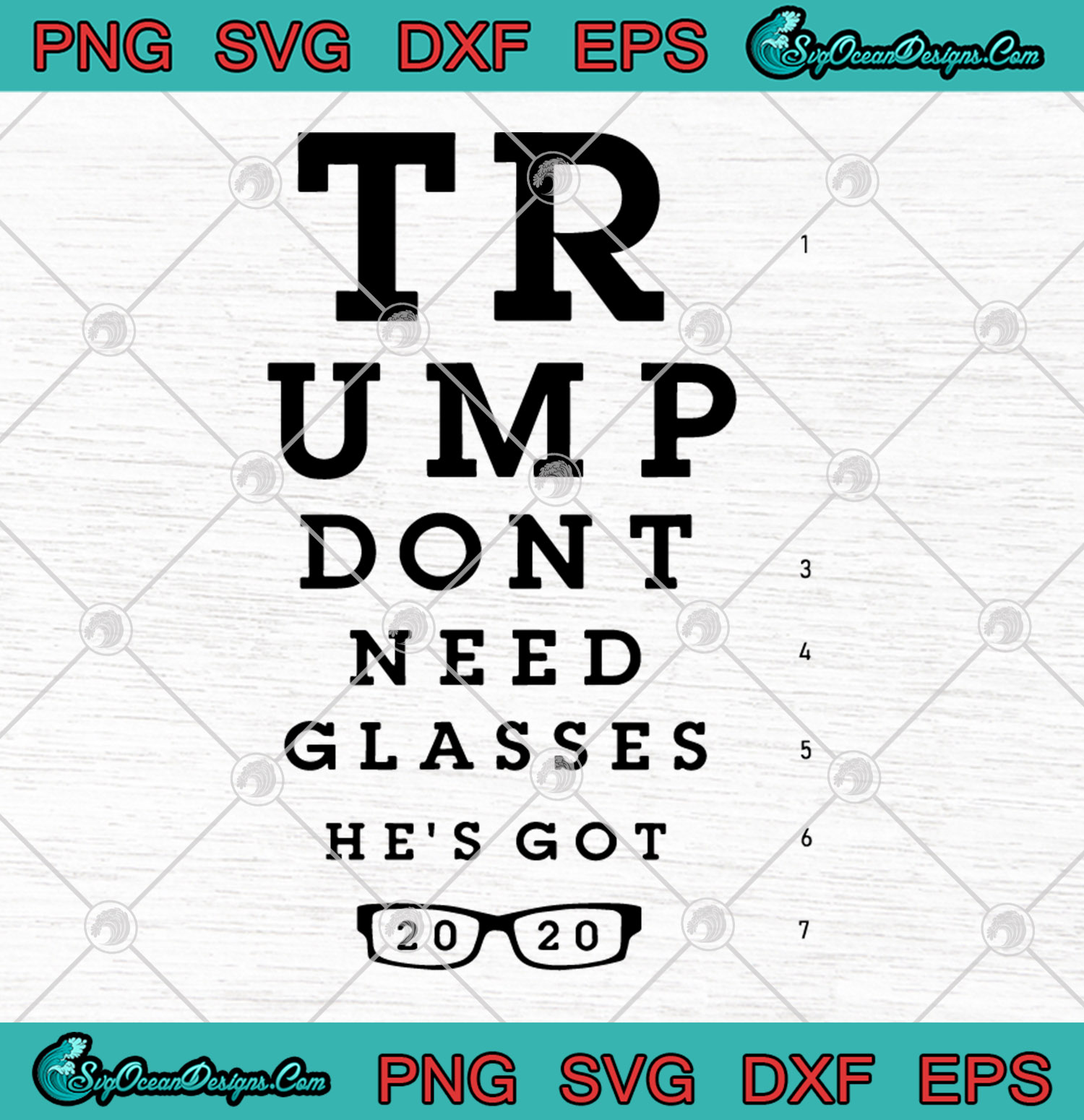 Donald Trump Trump Don T Need Glasses He S Got 2020 Svg Png Dxf Eps Cutting File Cricut Silhouette Art Designs Digital Download