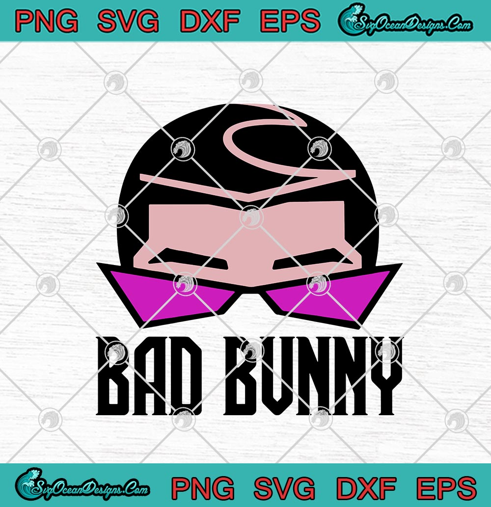 Bad Bunny Hair And Glasses Style Artwork Funny Svg Png Eps Dxf Cricut File Silhouette Art Designs Digital Download