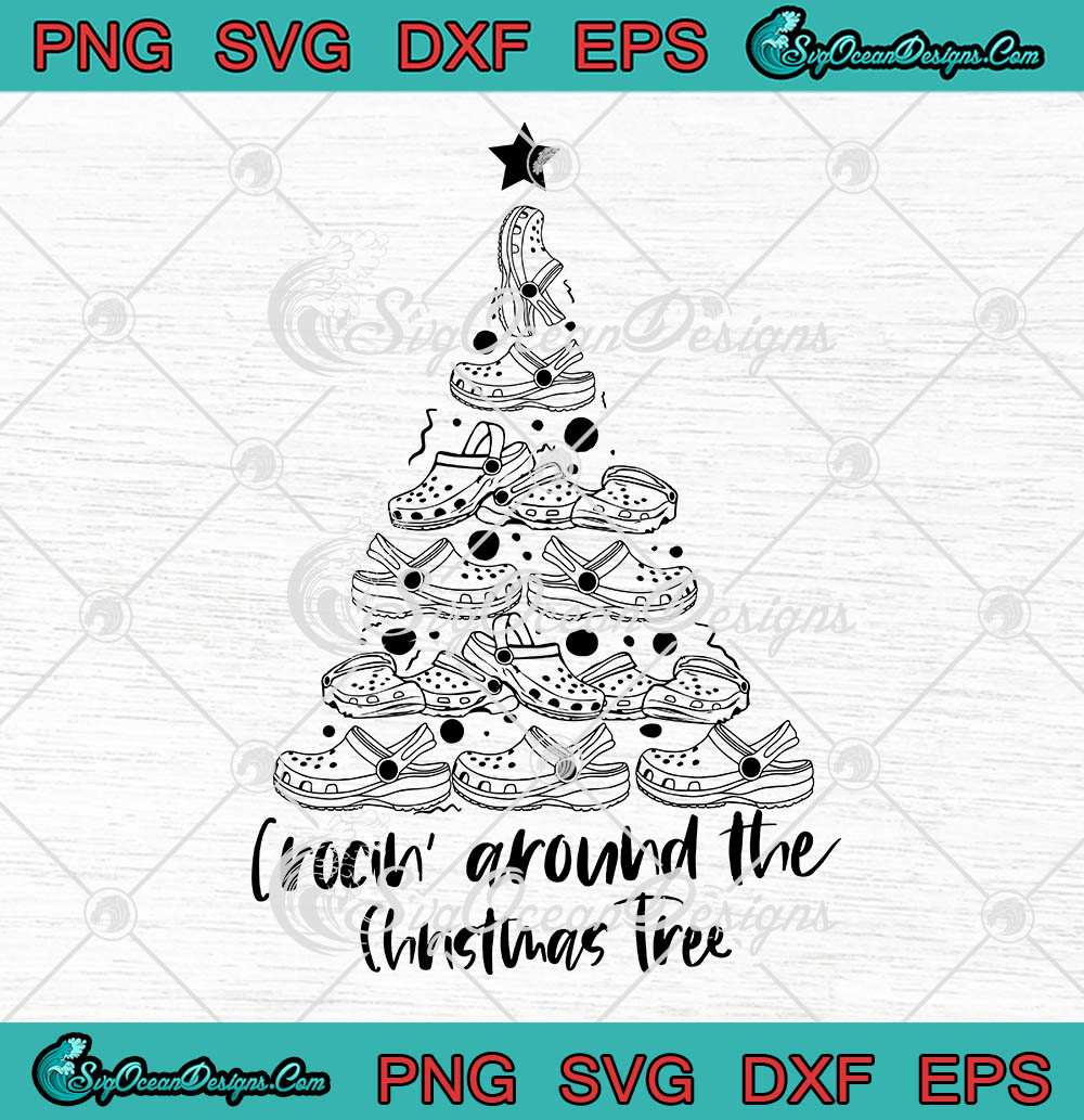 Crocin Around The Christmas Tree Christmas Svg Png Eps Dxf Cricut File Silhouette Art Designs Digital Download